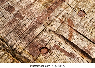 background or tecture old boards with nails