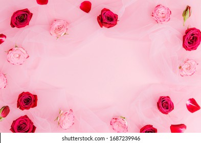 background template with red roses