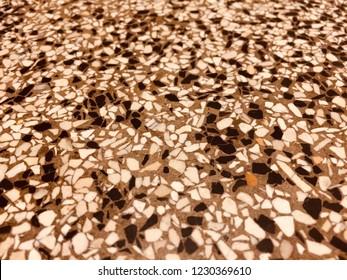 Background of terrazzo stone floor