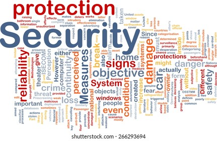 Background text pattern concept word cloud illustration of security protection