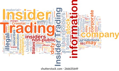 Background text pattern concept wordcloud illustration of insider trading