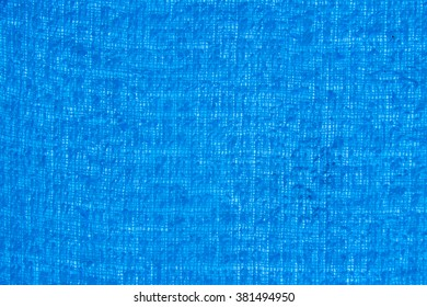 Background Texture of A Bath Towel in blue. Close-up