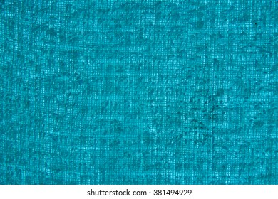 Background Texture of A Bath Towel in Cyan Blue. Close-up