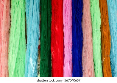 Background texture of beautiful yarn, ready for cloth woven