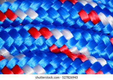 Background Texture Of The Blue Braided Rope