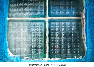 background texture blue old thick soviet glass