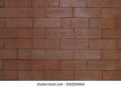 Background and texture brick wall red block