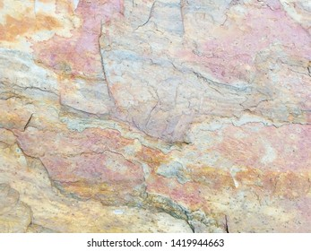 Background and texture of brown surface of rusty slate plate