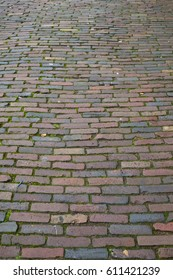 Background texture of a cobbled street.
