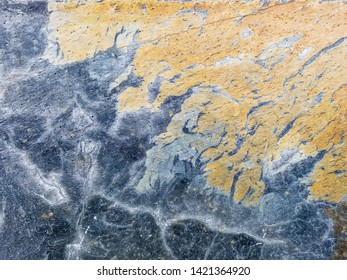 Background and texture of colored surface of rusty slate plate