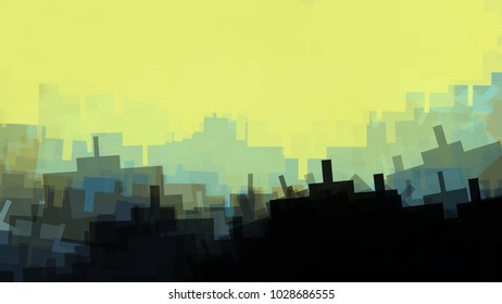 Background texture intricate pattern geometric structure urban illustration