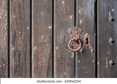 Background texture of a medieval door.