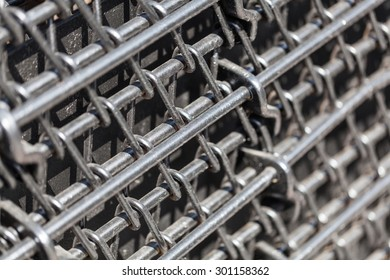 background texture of the metal rods close-up