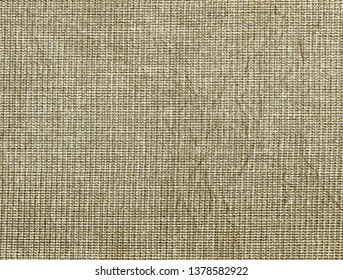 Background texture of natural frayed crumpled linen