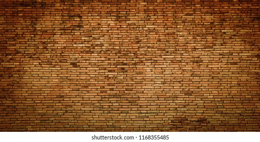 Background and texture of old vintage brick wall