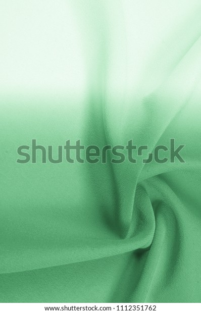 Background Texture Pattern Silk Fabric Green Stock Photo
