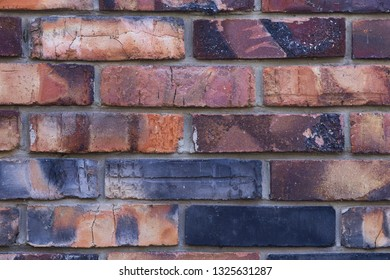 background texture of red burnt brick wall,masonry house