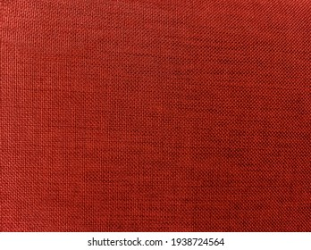 background texture of red linen fabric