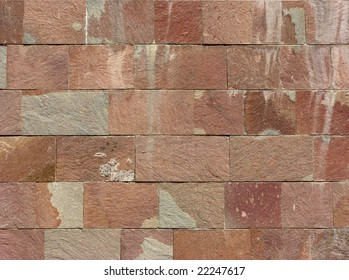 Background texture of a slab stone wall