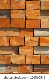 Background or texture: Stacked wood blocks showing end grain