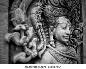 Background and Texture: Vintage: Thai Sculpture: Asia pattern: Clay background.
