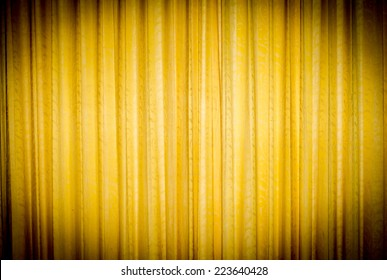 Background texture vintage yellow curtain.