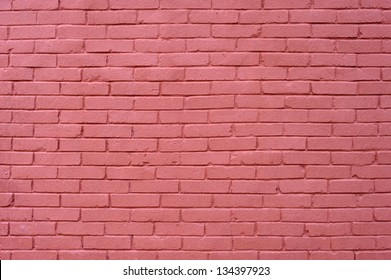 background texture wall of pink bricks
