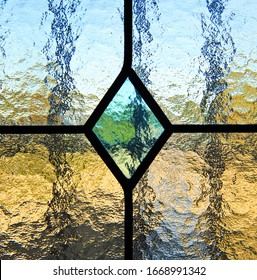 Background and texture of waters crystal, window of stained glass, diamond, rhombus, rhomb