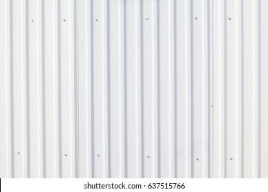 Background texture white corrugated metal sheet