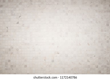 background and texture  white marble tiles  a mosaic