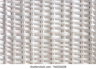 Background texture of white rattan wicker