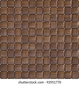 background texture of woven bamboo with natural patterns