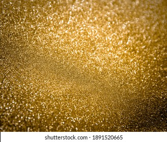 Background and textures in gold color, selective focus