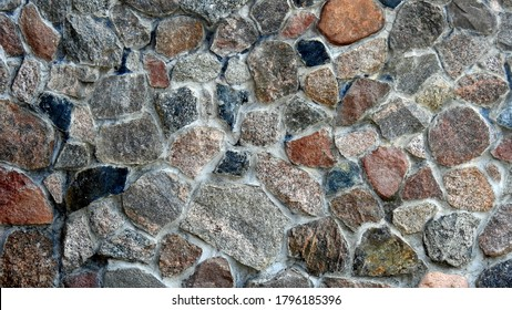 background textures wallpaper made of stone bricks wood and other human products made in Podlasie and Masovia in Poland in July 2020 - Shutterstock ID 1796185396