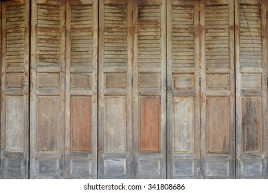 Background Thai Style Wooden Door