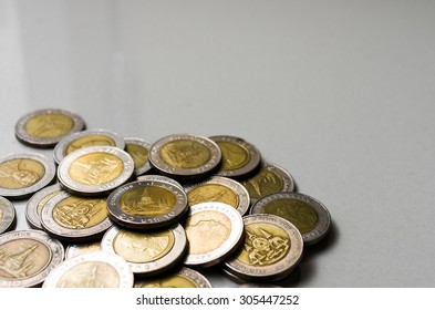 Background of Thailand Baht Coins