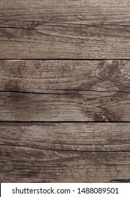 Background of three boards close-up. Texture and pattern of old boards horizontal.