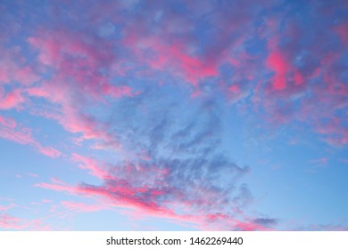 Background of thunderous red sunset sky with clouds