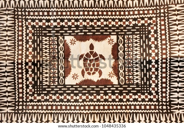 Background of traditional Pacific Islands tapa cloth, a barkcloth made primarily in Tonga, Samoa and Fiji