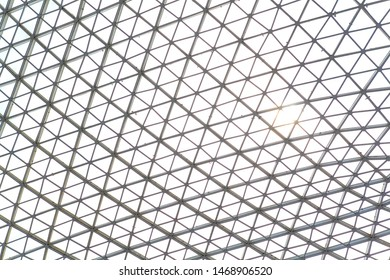 Background of the transparent glass modern wall roof