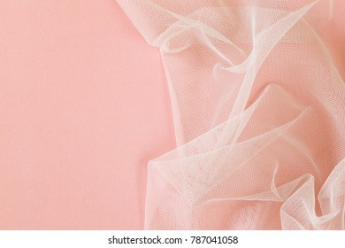 background with transparent organza cloth texture