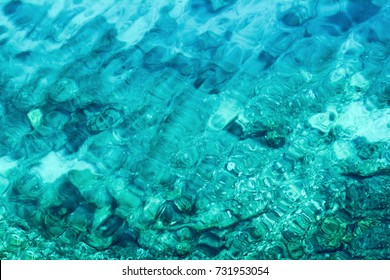 background of transparent sea water and bottom