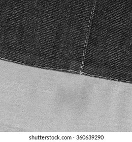 background of two fabric textures