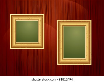 background with two gold frames (JPEG version)
