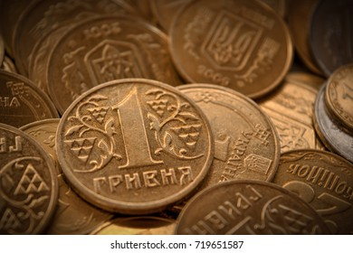 Background of Ukrainian coins