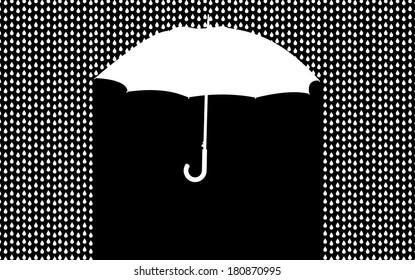 background with umbrella in the rain