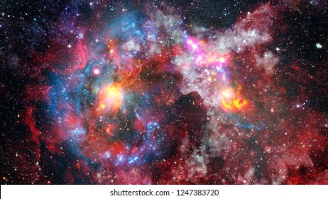 Background of the universe. Star cluster and nebula - A cloud in space. Abstract astronomical galaxy. Elements of this image furnished by NASA.