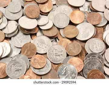 Background of US coins