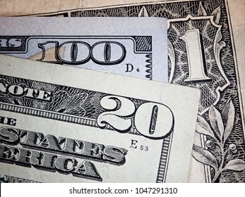 Background of US dollar bills. United states money.