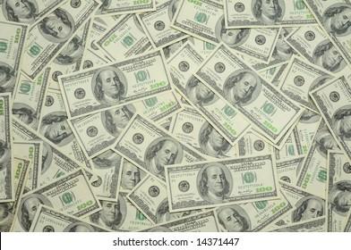 Background of US one hundred dollar bills